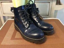 Mod8 Blue Patent Leather Ankle Boots, Size EU 36 US 6M Made in France