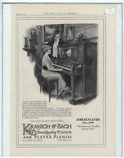 Rare Original VTG 1915 Kranich & Bach Jubilee Player Piano Advertising Art Print