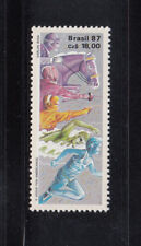 Brazil 1987 Pan Am Games Horses Sc 2100  Mint Never Hinged