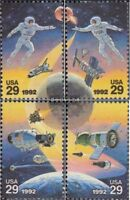 USA 2235-2238 (kompl.Ausg.) postfrisch 1992 Weltraumunternehmen