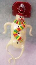 New Slavic Treasures Retired Glass Ornament - Snow Dancer Snowman