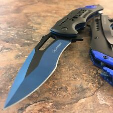 "TAC-FORCE Spring Assisted Pocket Folding ""POLICE"" Rescue Tactical Knife"