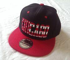 Casquette Chicago Amérique noir rouge drapeau USA dans les lettres Cap Kappe