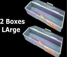 2 x Large Empty Storage Case Brush Nail Utlility Box Single Compartment 70052C