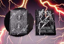 Bicycle Playing Card Decks Black Lightning Limited Rare Professional Custom