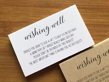 50 x WHITE Wishing Well Cards - Printed & Cut Wedding Invitations Invites Gifts