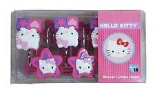 Sanrio Hello Kitty Shower Curtain Hooks Set of 11 Kitty Purse Design Hearts Star