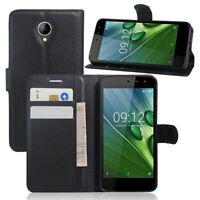 For ACER Liquid Zest Z525/ Zest T06  Flip Wallet Case/Cover/Card Holder Pouch