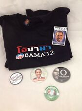 President Obama 6pc Lot Deck Playing Cards, Tshirt, 08 pin 09 pin Two more pins