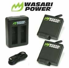 GoPro HERO 7 Battery Kit Wasabi Power 2 x 1220mAh & Charger Set For Go Pro Black