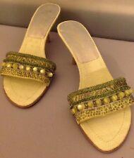 Women��s 8 1/2 Enzo Angiolini Green Heels
