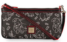 Disney Dooney & Bourke 75th Anniversary DUMBO Leather Wristlet Bag Purse NWT