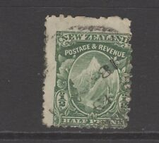 NEW ZEALAND 1/2d GREEN MOUNT COOK - Badly Centred - Used