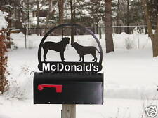 DOG MAILBOX TOPPER ADDRESS SIGN HOME PET PERSONALIZED