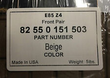 2002 TO 2008 BMW Z4 Rubber Floor Mats - Factory OEM BMW Accessories - BEIGE
