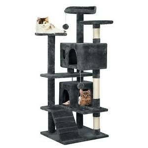 Multilevel Cat Tree Tower Cat Scratching Post Climbing Activity Centre Large