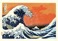 """Véritable Estampe Japonaise Hokusai """"La Grande Vague de Kanagawa"""" revisitée"""