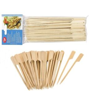 Tala 50x 9 or 18cm Bamboo Wooden Skewers Cocktail Sticks Buffet Burger BBQ Olive