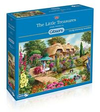 GIBSONS THE LITTLE TREASURES THATCHED COTTAGE 1000 PIECE JIGSAW PUZZLE NEW GIFT