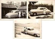 Women Pose with Classic 1949 Chevy Chevrolet Deluxe Coupe Two-Door Photos 3