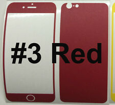 "iPhone 6 4.7"" Matte Coloured Carbon Fiber Skin Sticker Package, Bumper+Protector"
