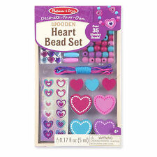Melissa & Doug Decorate Your Own Heart Bead Set #8828 Brand New