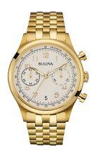Bulova Classic Men's Quartz Chronograph Gold-Tone Bracelet 43mm Watch 97B149