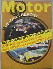Motor magazine 5/10/1968 featuring Reliant Scimitar GTE road test, Jaguar XJ6