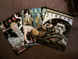 SINNER #1, 2 & 3 Lot- Jose Munoz & Carlos Sampaya, '87 1st PB Editions*RARE+OOP!