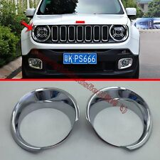 ABS Chrome Headlight Lamp Cover Trim For JEEP Renegade 2015 2016 2017
