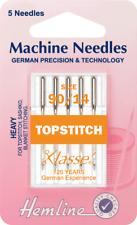 Hemline H118.90 | Hvy Top Stitch Machine Needles | 5x 90/14 Top/Sashiko/Blanket