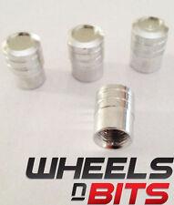 Color Plata A Rayas Aluminio Tapón De La Válvula Adecuado Para Mazda Coches Vans