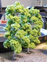 2-STÜCK Jordan LAUB Bäume Birken mit Fuß 18cm hoch          1B