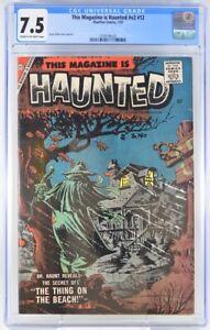 This Magazine is Haunted V2 #12 CGC 7.5 1957 Steve Ditko art