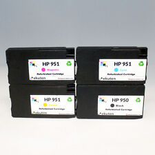 HP Officejet Pro 8100 8600 8610 Refill OEM Ink Cartridges 4 Color Set-HP 950 951