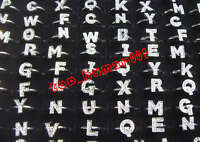 wholesale Fashion mixed Lots 50pcs letters Crystal rhinestone adjustable rings