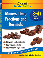 Excel Basic Skills - Money Time & Fractions Years 3-4 NEW 9781741255898
