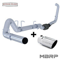 """MBRP 4"""" EXHAUST 03-07 FORD POWERSTROKE DIESEL 6.0L F250 F350 NO MUFFLER WITH TIP"""