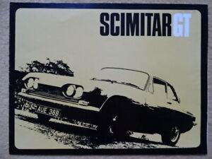 "SCIMITAR Reliant ""GT"" - 2553 cc - 1964 - British sales brochure, prospekte"