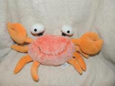 "Plush Fiesta Orange Crab with Popping Eyes Stuffed Toy 14"" Claw Span"