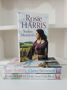 Collection of 3 x Paperback Saga Romance Books Rosie Harris - Stolen Moments NEW