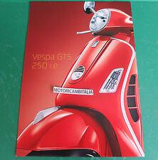 PIAGGIO VESPA 250 GTS SCOOTER PUBBLICITA DEPLIANT BROCHURE CATALOGUE