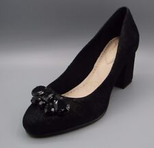"""ALDWYCH MAZE""Clark's Women/Ladies Black Suede Shoes size 7 D."