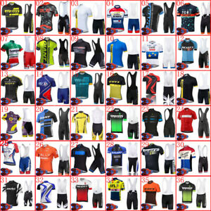 2021 Mens Summer Team Bike Outfits Cycling Short Sleeve Jersey Bib Shorts 9D Set
