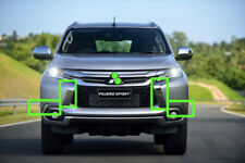 MITSUBISHI Pajero Montero Sport 3 Kit 4 Pcs Chrome Strips for Front Bumper 16-18