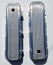 BBC Big Block Chevy FINNED Valve Covers Polished Aluminum 396 454 TALL VINTAGE