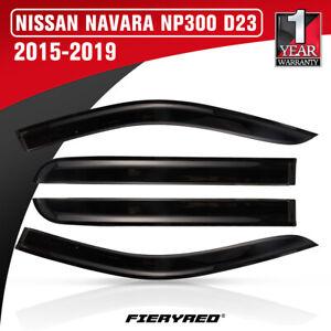 Weather Shield Window Visor For Nissan Navara NP300 D23 2015-2019