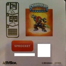 Sprocket Skylanders Giants Sticker/Code Only!