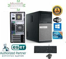 Dell 790 TOWER Intel Quad i7 2600 3.40GHz 8GB Ram 1TB HD Windows 10 PRO 64 DVI