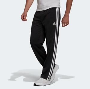 adidas Men's Essentials Primegreen Warm-Up Open Hem 3-Stripes Track Pants